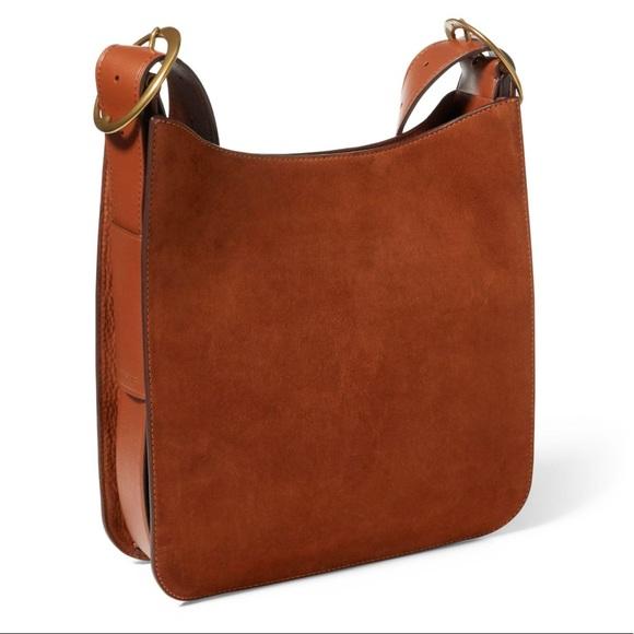 5e445e6e47 Ralph Lauren Nubuck Leather Messenger Bag. M 5af8dee41dffda9454fc1b1d